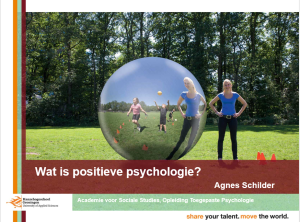 NKDI-congres wat is pos psychologie